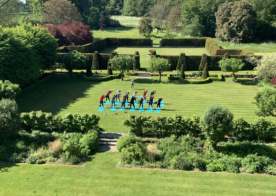 Photo of yoga in the grounds at 10 Castle Street