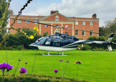 Photo of a helicopter landing at 10 Castle Street