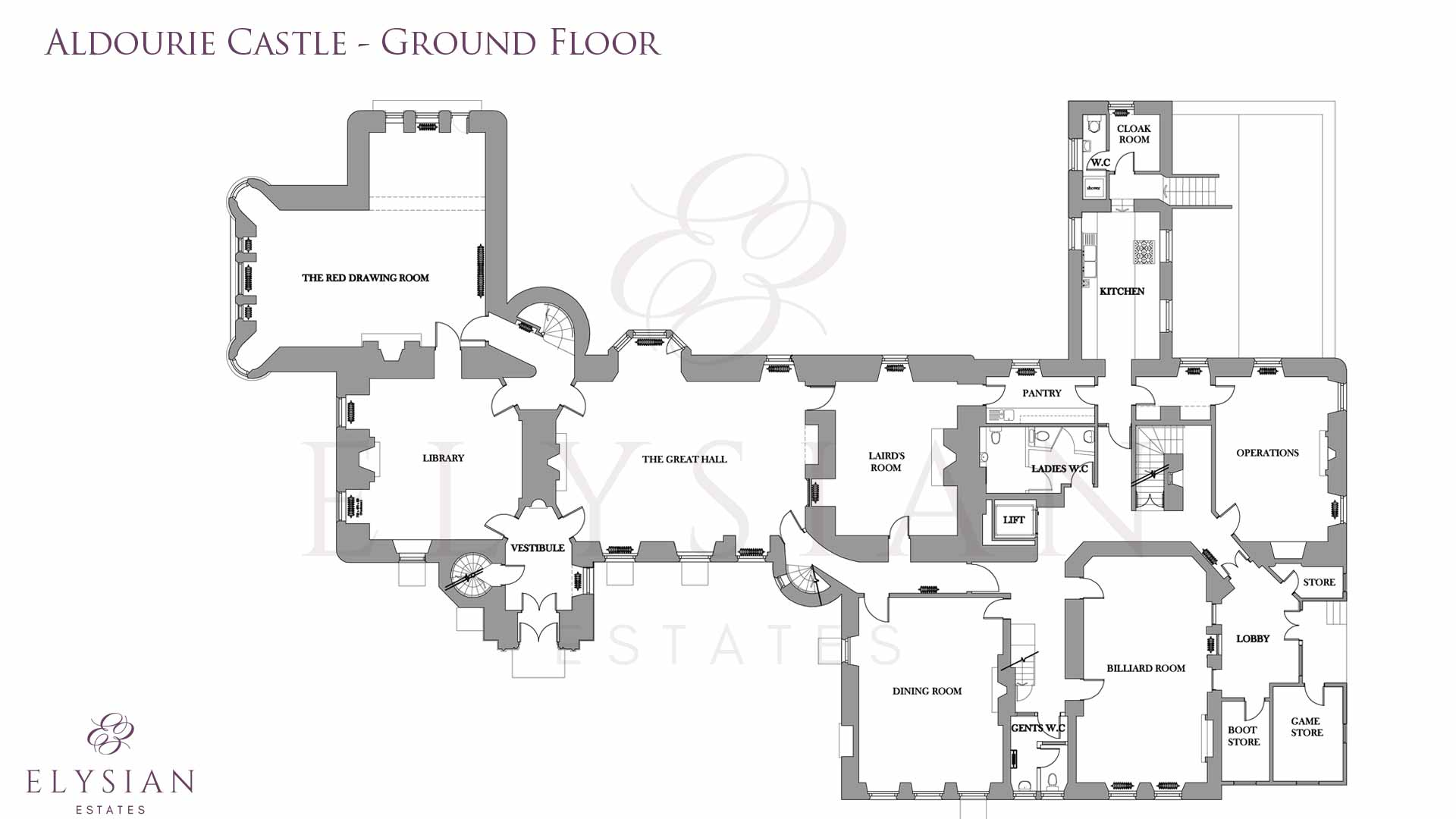aldourie castle ground floor plan aldourie castle floor plan