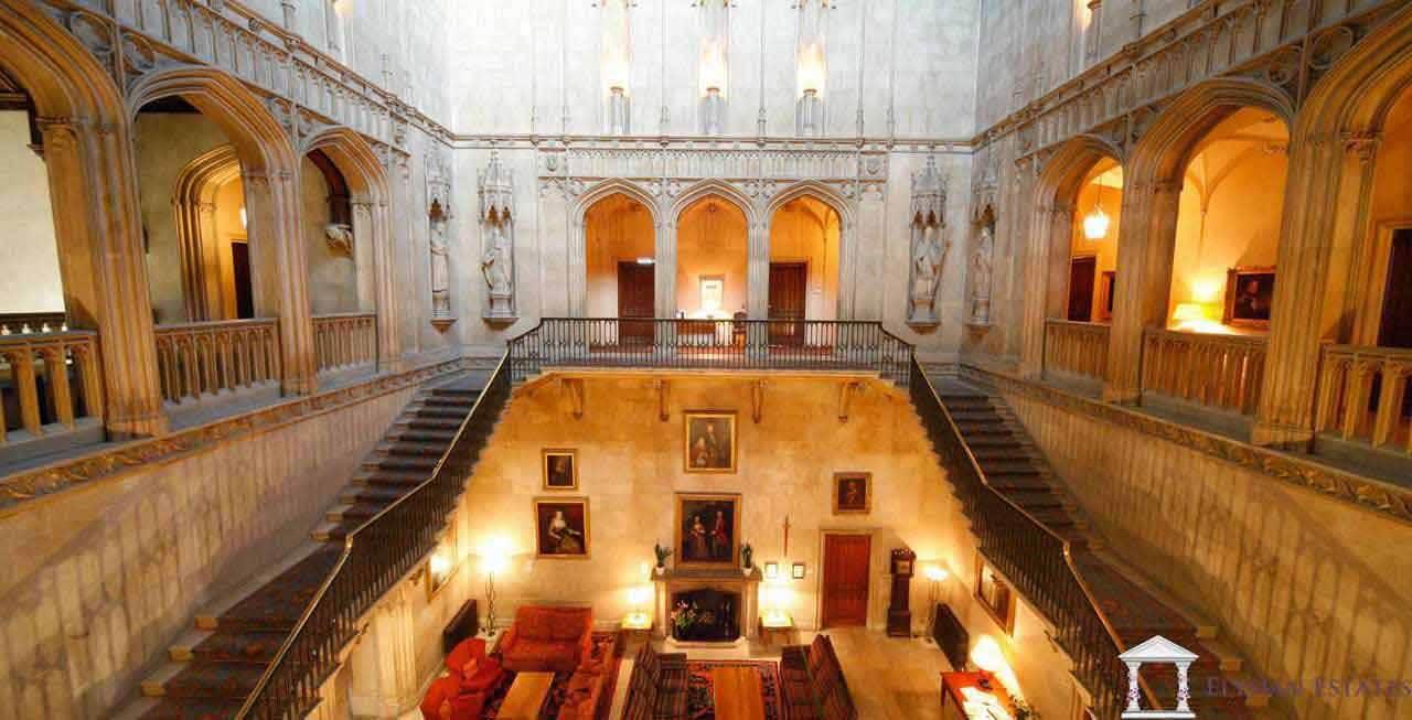 The stunning main hall at Ashridge House