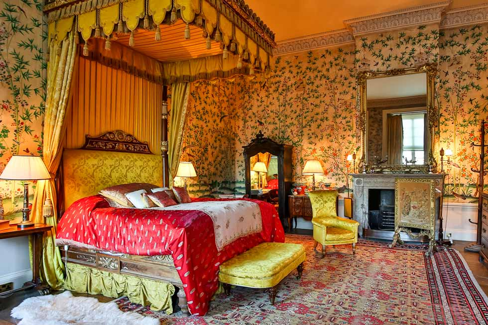 One of the many beautiful bedrooms at Belvoir Castle
