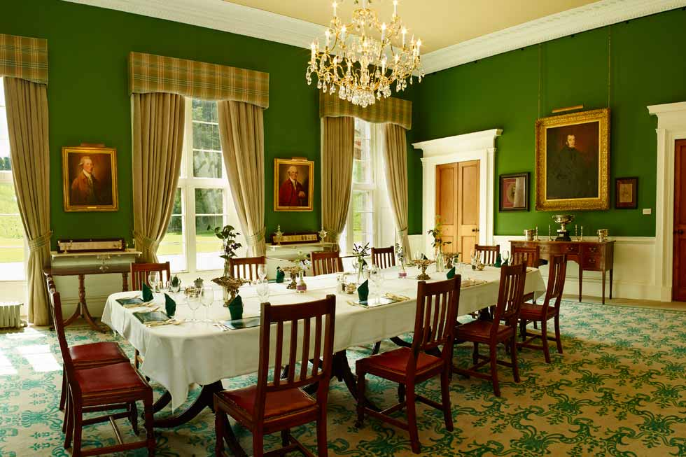 Photo of the dining room at Blairquhan Castle