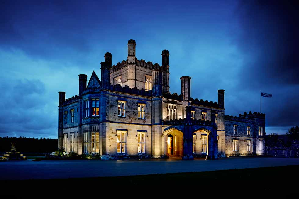 Photo of Blairquhan Castle at night