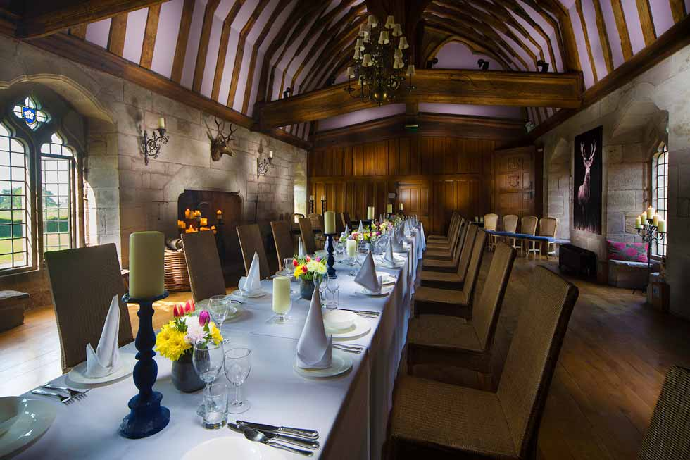 The Brinsop Court dining room