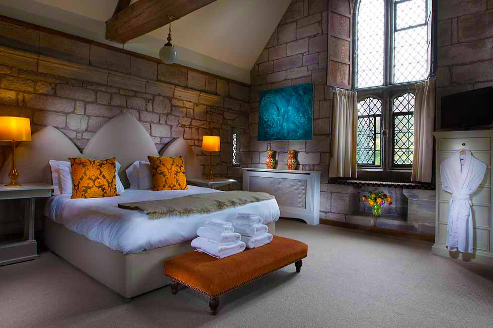 Stunning bedroom suite at Brinsop Court