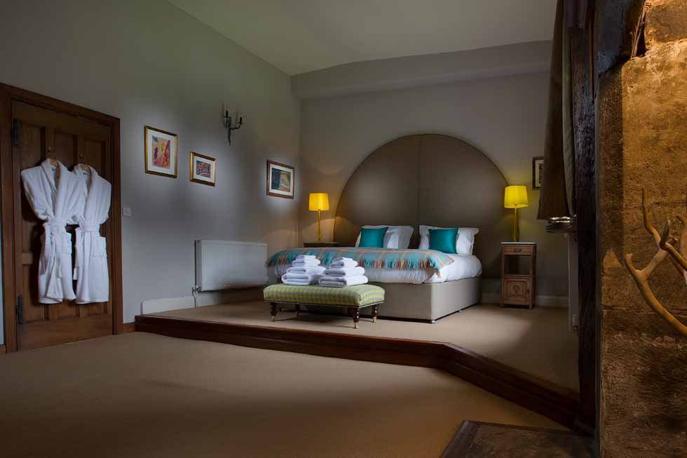 A stunning bedroom suite at Brinsop Court
