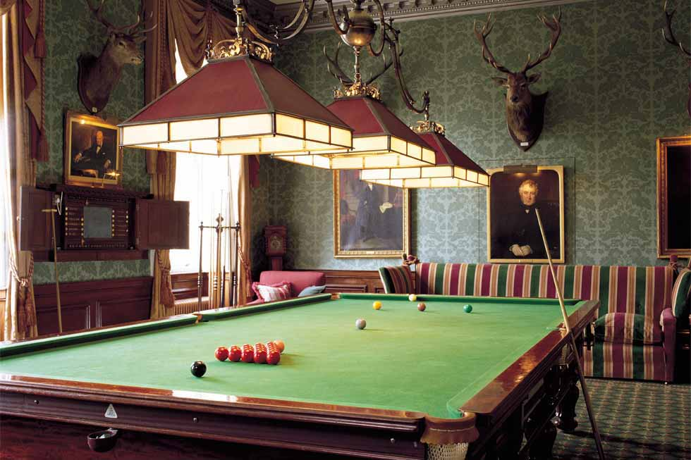 The Brocket Hall snooker room