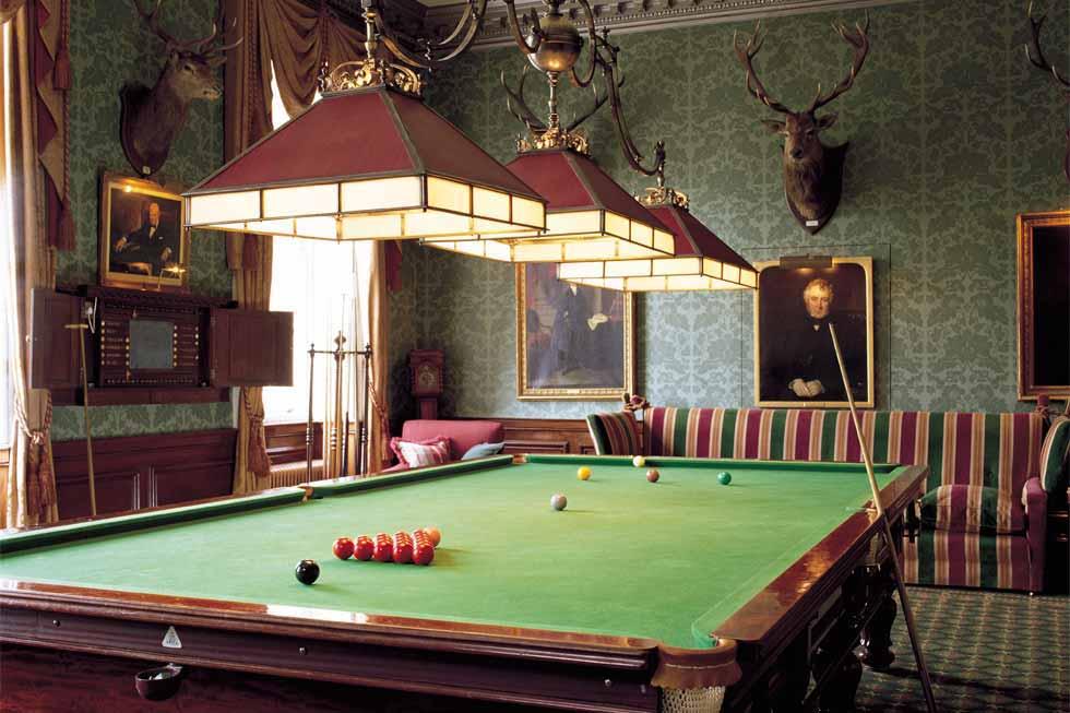 The Brocket Hall snooker room