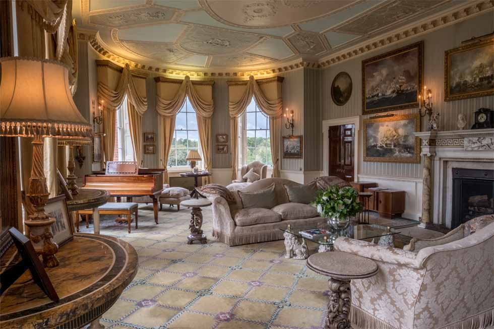 One of the stunningly beautiful rooms at Brocket Hall
