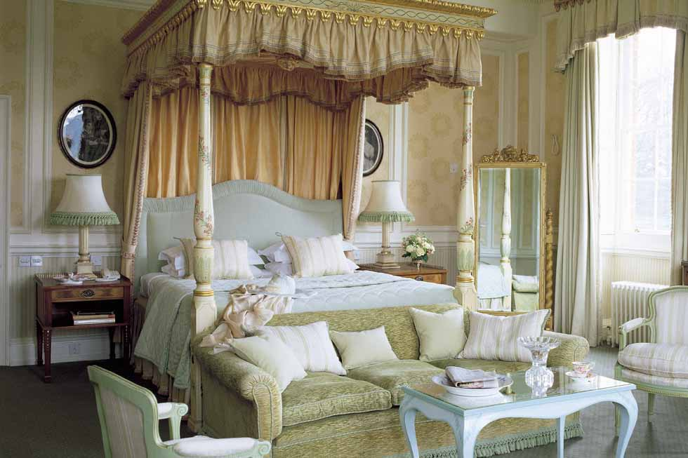 One of the stunning bedroom suites of Brocket Hall