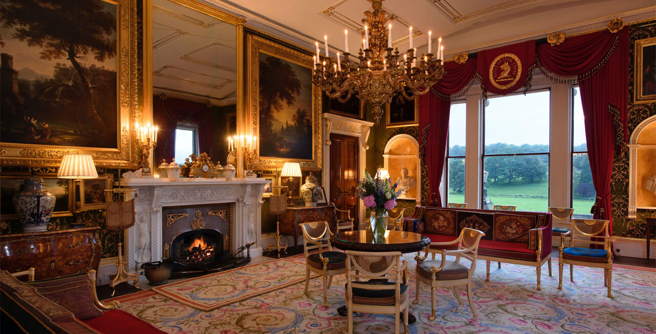 Photo of a reception room at Broughton Hall