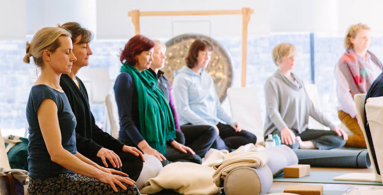 Photo of meditation at Broughton Hall