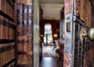 Photo of the secret door at Broughton Hall