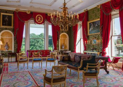 Photo of the Green Drawing Room at Broughton Hall