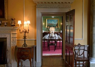 Photo of he Saloon into the Dining Room at Broughton Hall