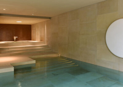 Photo of the indoor pool at Broughton Hall