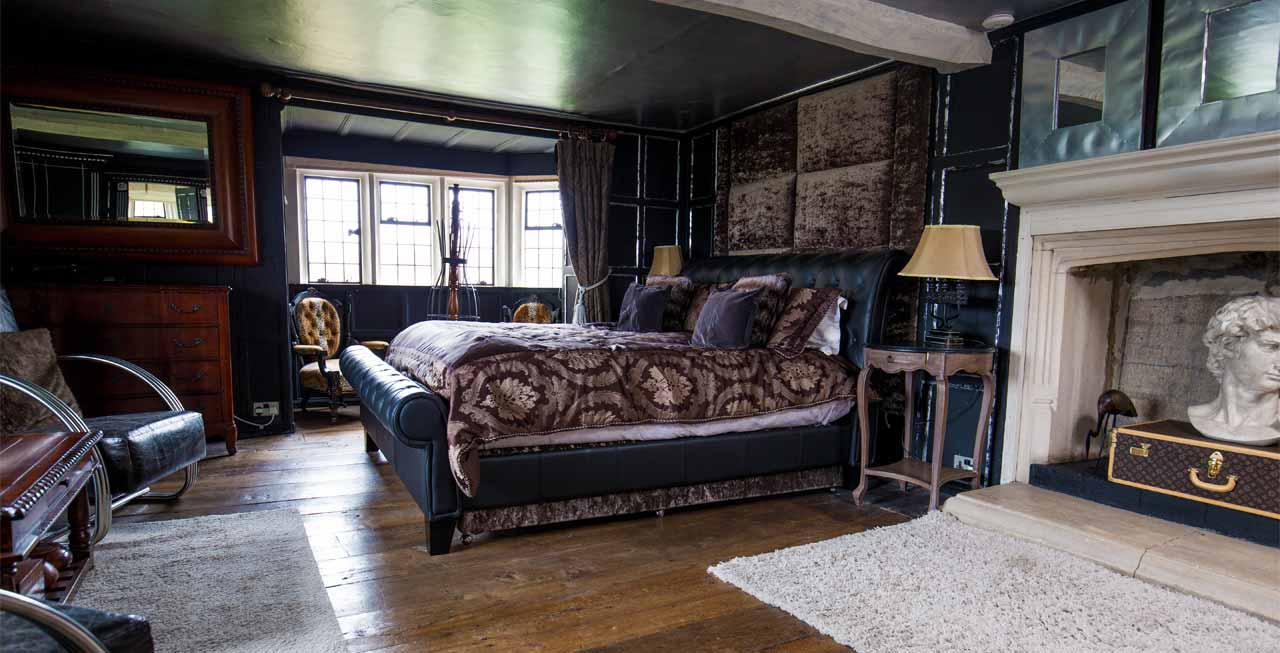One of the stunning bedroom suites