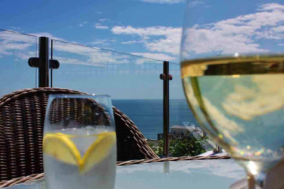 Enjoy a drink whilst enjoying the views of Cove Lodge