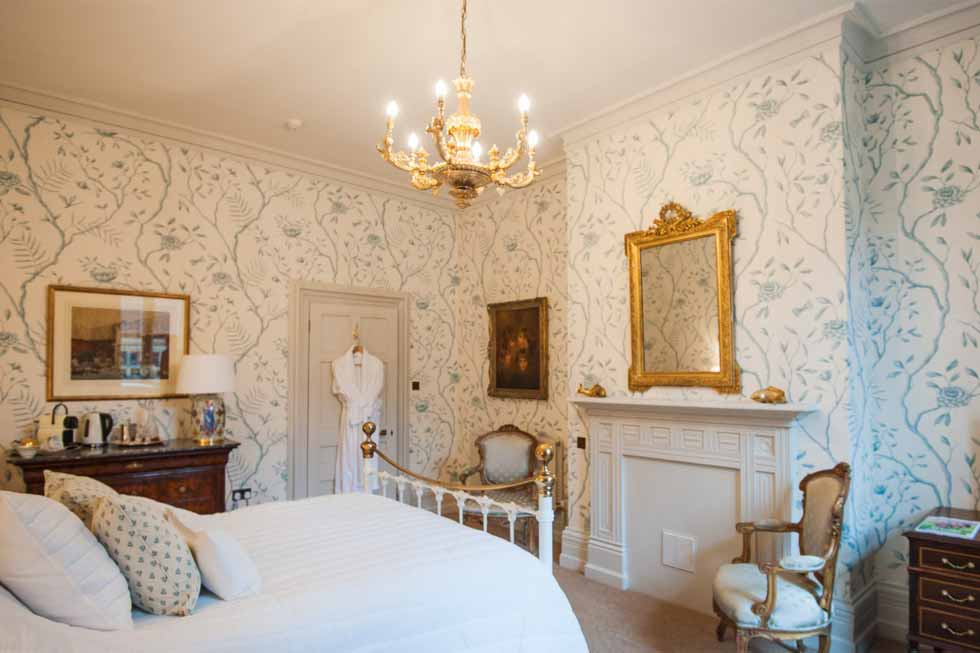 Photo of the Aquamarine bedroom suite at Cowdray House