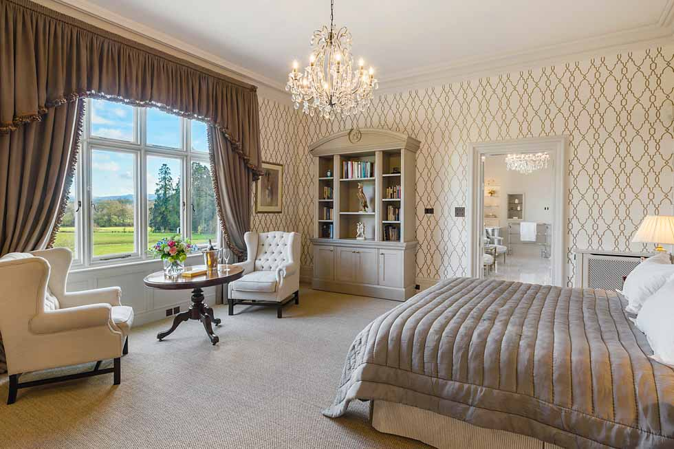 Photo of the Crystal bedroom suite at Cowdray House