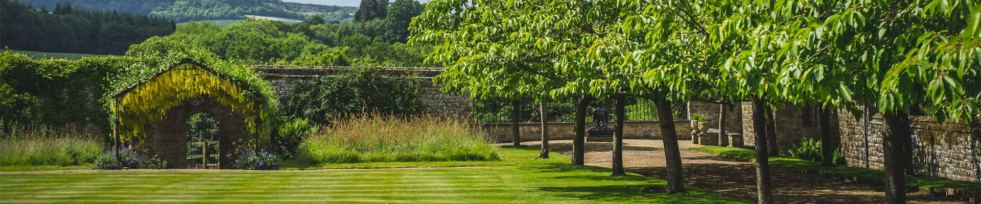 Image of the stunning gardens at Cowdray House