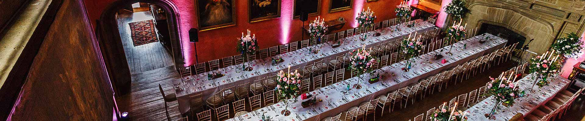 Image of Cowdray House set for dinner