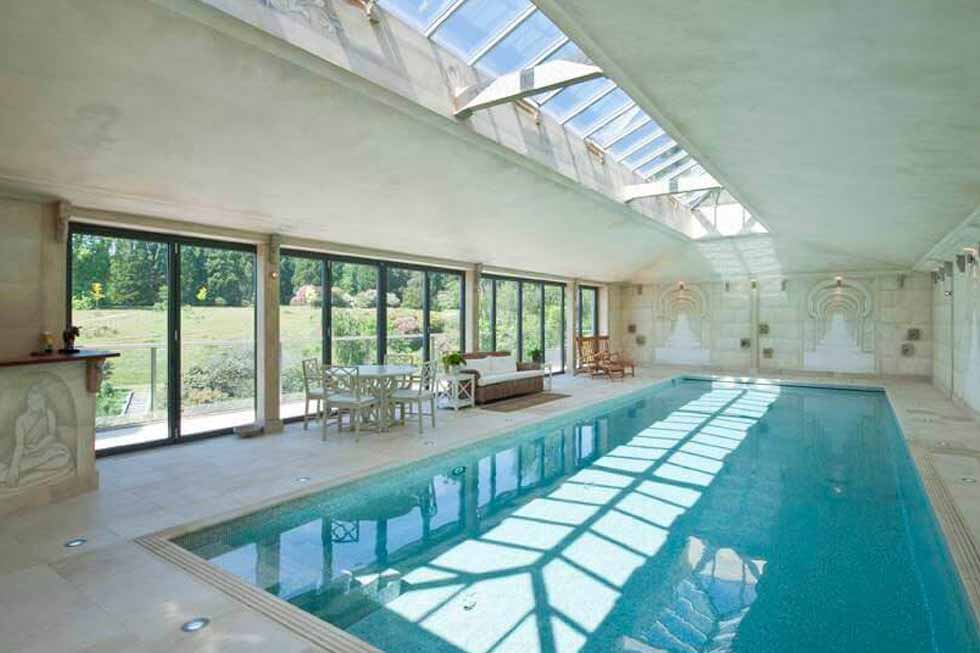 Photo of the beautiful swimming pool