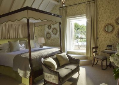 Photo of one of the bedroom suites at Dormy House