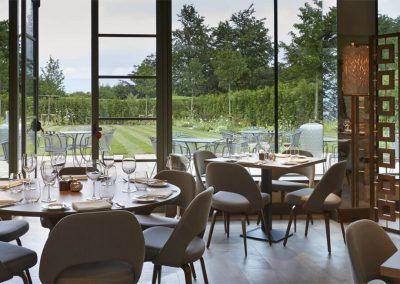 Photo of the main dining area at Dormy House