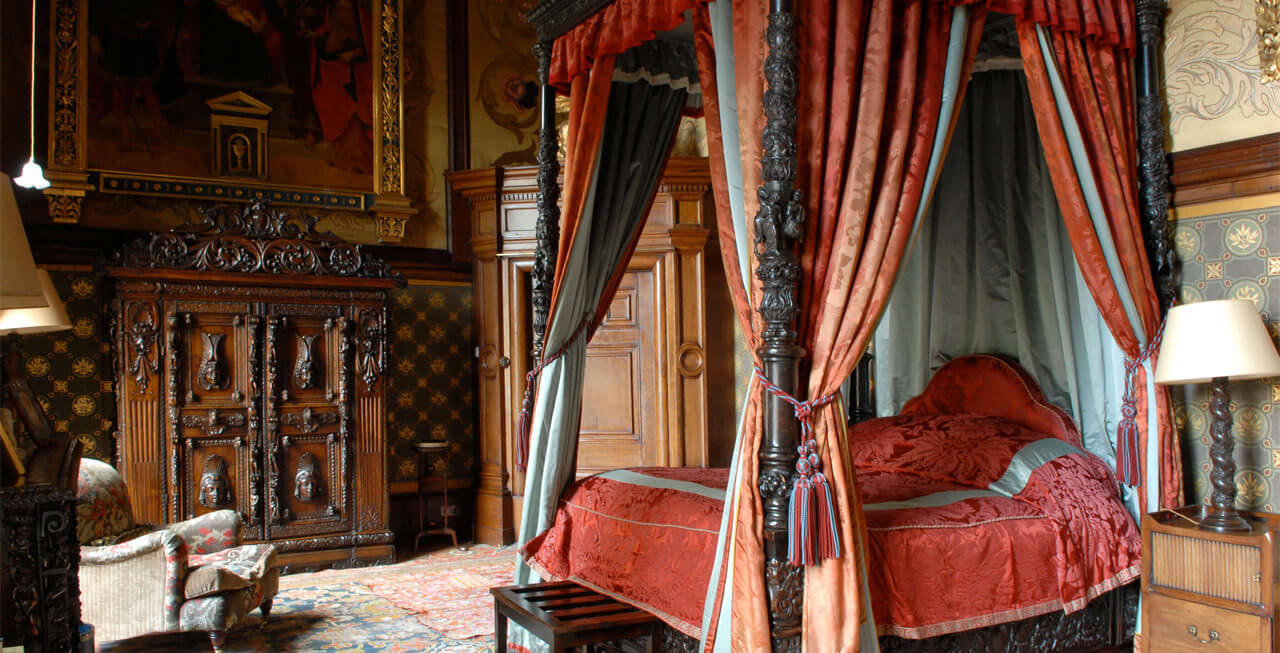 Photo of one of the bedrooms at Cambria Castle