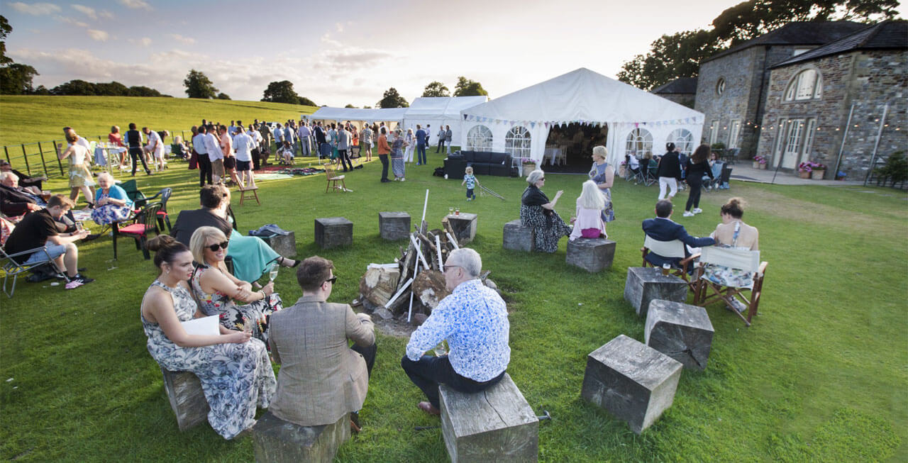 Photo of a marquee party at Tempest Park