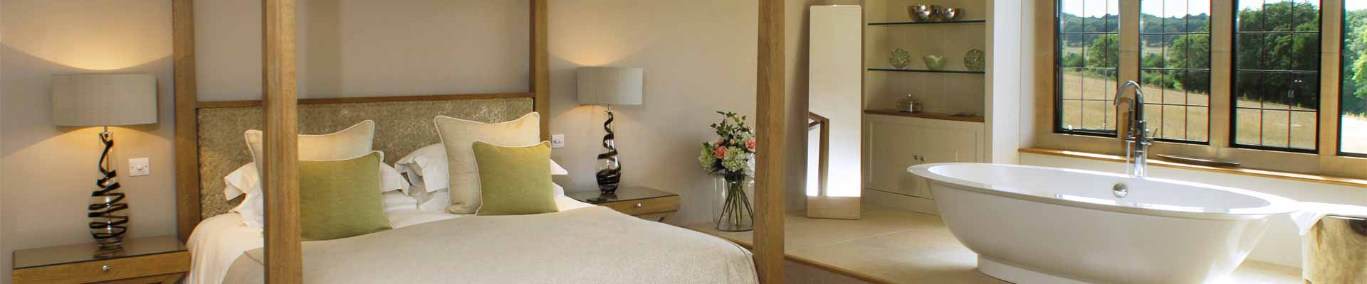 Photo of one of the stunning bedroom suites at Elkstones