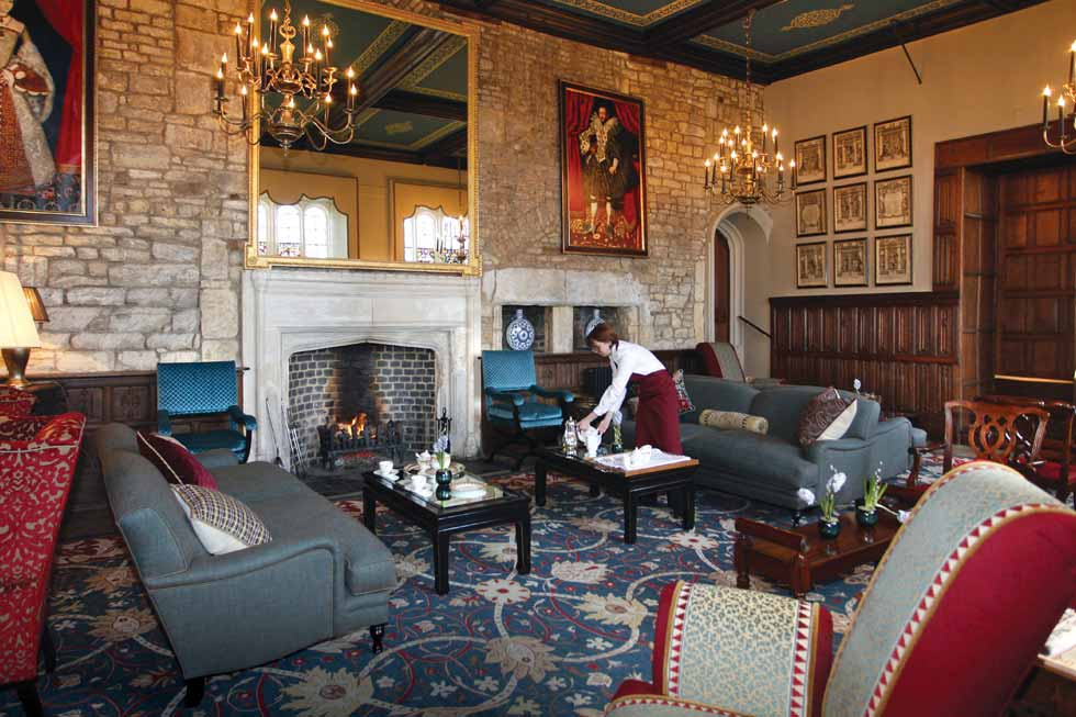 Relax in front of Selsley Manor's fireplaces