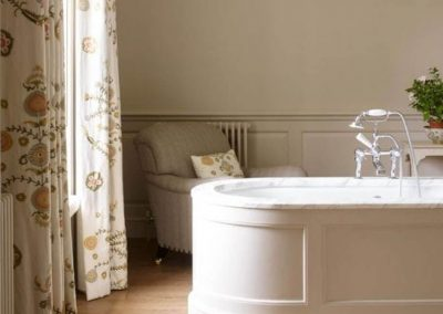 Photo of the bathroom of the Bird bedroom at Farleigh House