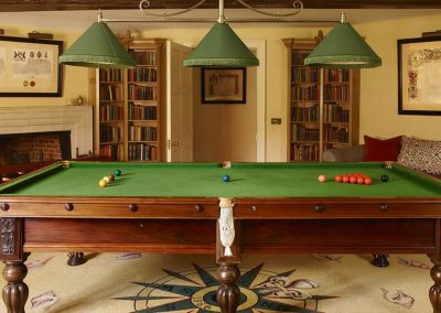 Photo of Farleigh House snooker room and table