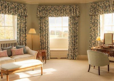 Photo of the master bedroom suite at Farleigh House