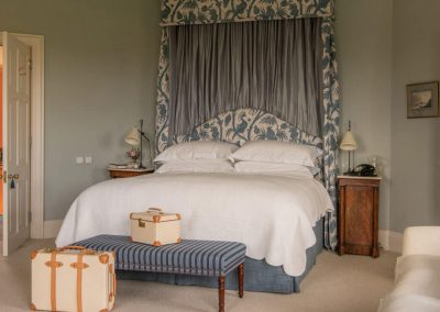 Photo of one of the bedrooms at Farleigh House