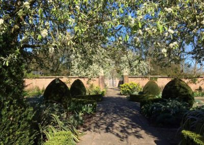 Photo of the walled gardens at Farleigh House