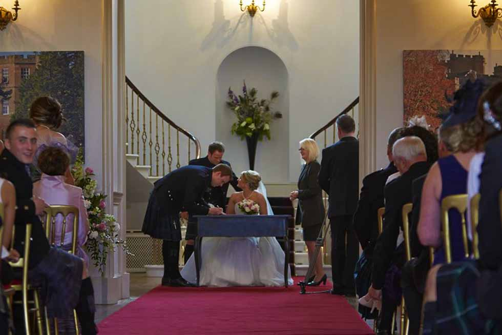 Alban Castle is perfect for weddings