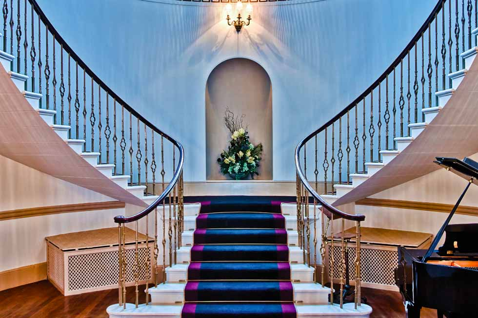 Alban Castle's stunning staircase