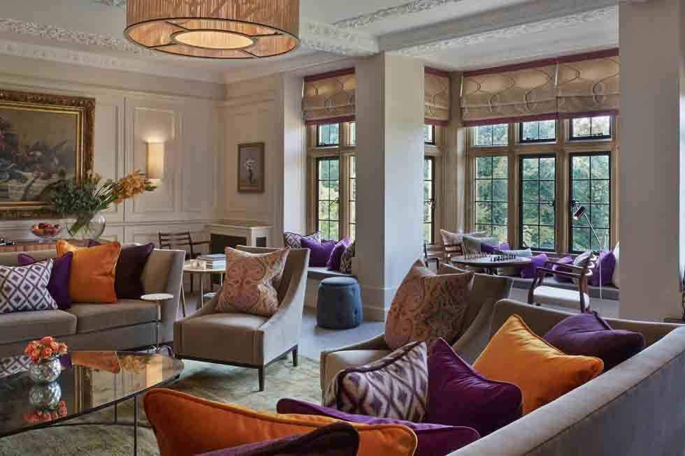 Relax in the luxurious Foxhill Manor lounge