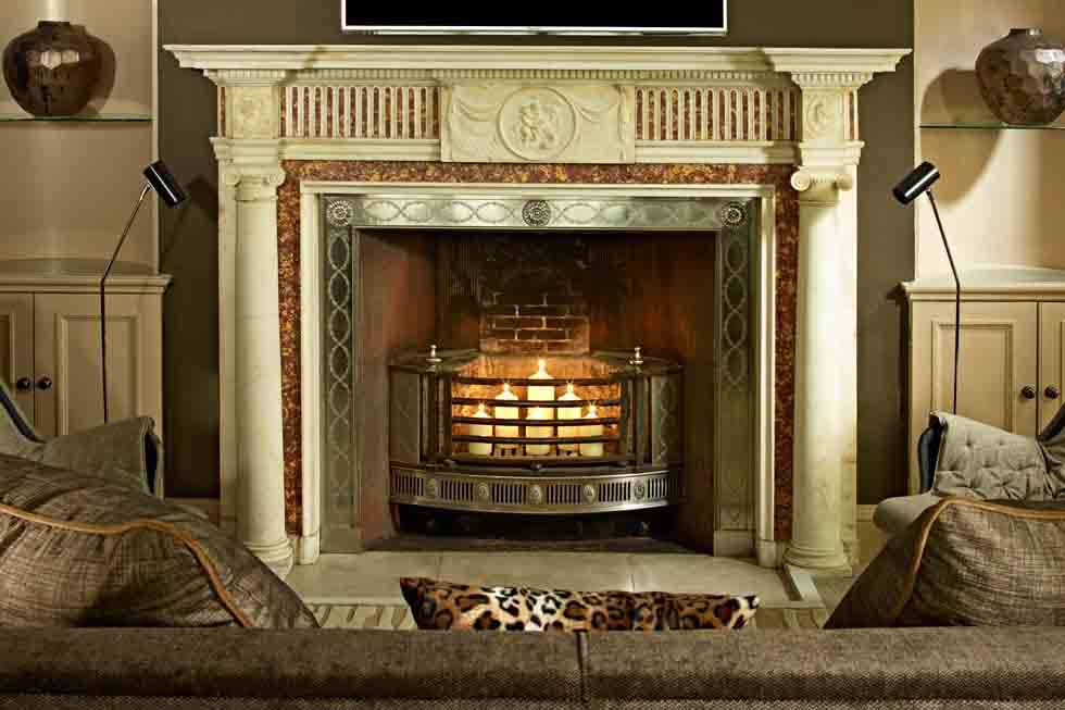 Broadway Manor grand fireplace