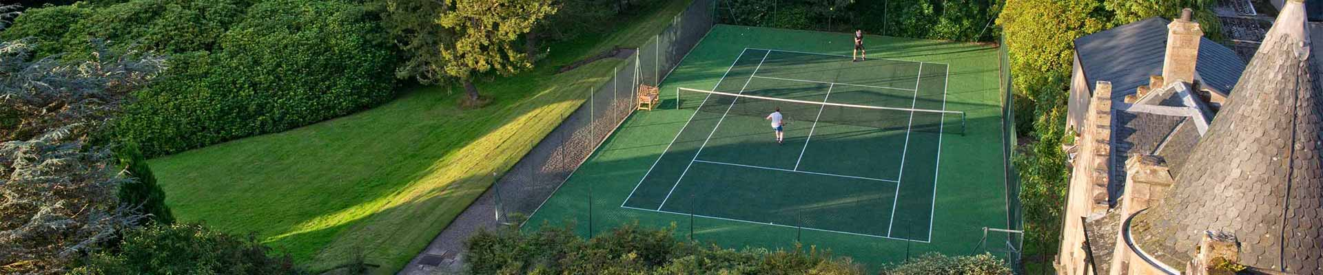 Photo of Glenapp Castle's tennis court