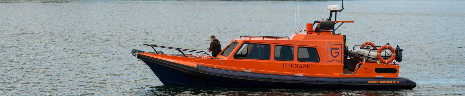 Photo of Glenapp Castle's boat, which you can use!