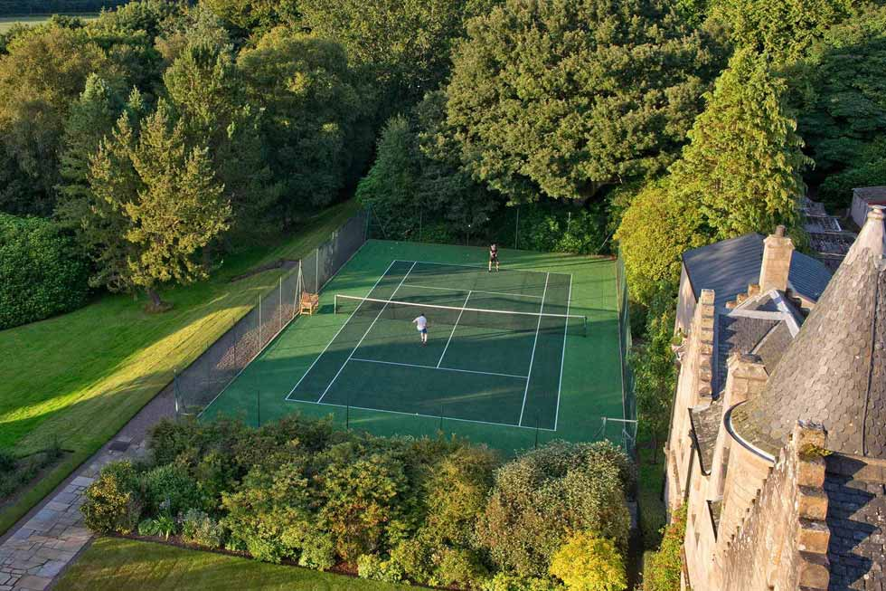 Photo of Glenapp Castle's tennis court