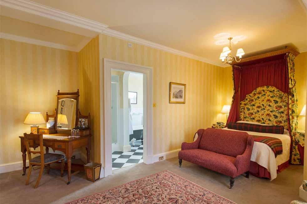 Photo of the Ardstinchar bedroom suite at Glenapp Castle