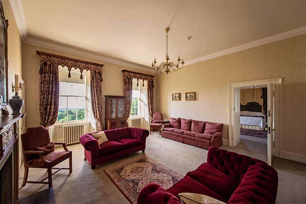 Photo of the Arran bedroom at Glenapp Castle