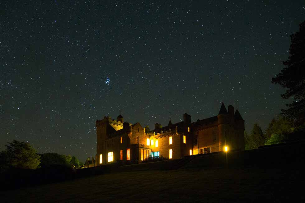 Photo of Glenapp Castle at night
