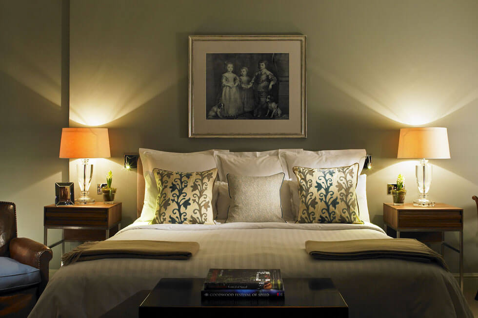 Photo of one of the bedrooms at Goodwood Hotel