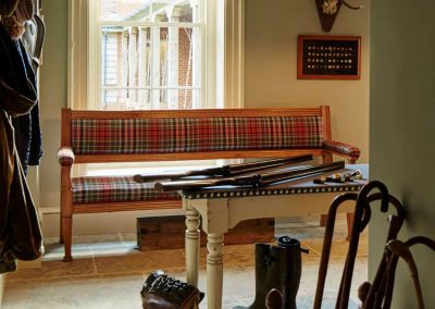 Photo of the boot room at Goodwood's Hound Lodge